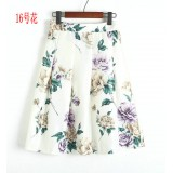 170101 Floral Printed A line Skirt READY STOCK