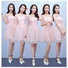 170201 Bridesmaid short dress (4 COLORS AVAILABLE)
