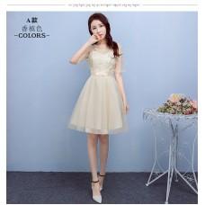 170201 Bridesmaid short dress (4 COLORS AVAILABLE)