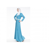 603 AURORA Muslimah Long Sleeve Jubah Maxi Dress Long Dress  FREE SHIPPING (orange, light blue, dark blue)