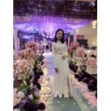 ELFBOUTIQUE 410021 Korean Fashion Dinner Dress Long Dress FREE SHIPPING
