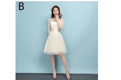 ELFBOUTIQUE 201709 Bridesmaid Short Dress Champagne 5 designs