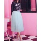 170802 READY STOCK Korean maxi skirt tulle skirt