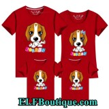 171038 ELF Chinese new year theme family t shirt (11 Colours Available)