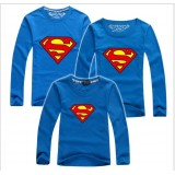 171031 AURORA Family Long Sleeve T shirt Superman Dad + Mom + 1 kid FREE SHIPPING (7 COLORS AVAILABLE)