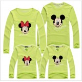 171032 AURORA Family Long Sleeve T shirt Mickey Minnie Dad + Mom + 1 kid FREE SHIPPING (7 COLOR AVAILABLE)