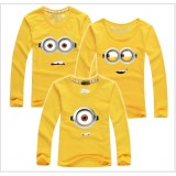 171033 AURORA Family Long Sleeve T shirt Minion Dad + Mom + 1 kid FREE SHIPPING (7 COLOURS AVAILABLE)