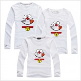 171035 AURORA Family Long Sleeve T shirt Doraemon Dad + Mom + 1 kid FREE SHIPPING (7 COLOURS AVAILABLE)
