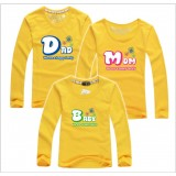 171036 Family Long Sleeve T shirt Dad + Mom + 1 kid FREE SHIPPING (7 COLOURS AVAILABLE)