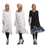 077 AURORA Muslimah Long Sleeve Long Blouse FREE SHIPPING black, white