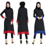 076 Muslimah Long Sleeve Long Blouse FREE SHIPPING red, blue