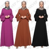 068 AURORA Muslimah Long Sleeve Jubah Maxi Dress Long Dress FREE SHIPPING/ Brown, Black, Purple red