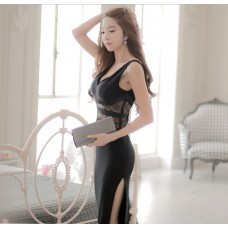 66801 ELF European Off Shoulder Dinner Gown Premium FREE SHIPPING/BLACK