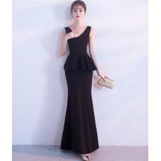 66837 ELF European Off Shoulder Dinner Gown Premium FREE SHIPPING/ red, black