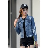 66275 Korean Jeans Jacket Cardigan Hoodie FREE SHIPPING