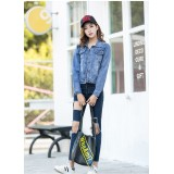 66274 ELF Korean Jeans Jacket Cardigan Hoodie FREE SHIPPING