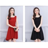 66650 ELF PREMIUM Korean Designed Casual Dress Plain Design A line Dress Off Shoulder FREE SHIPPING