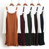 171249 AURORA Women Knitted Maxi Jumper Skirt/ orange, purple, green, black, dark blue