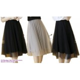180201 ELF BOUTIQUE Ready stock korean designed midi skirt/ pleated skirt/ students skirt /knee length skirt/