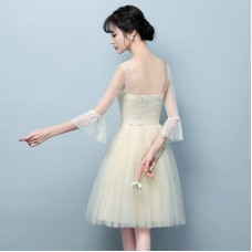 180301 ELF Bridesmaid Series/ Champagne/ Yam Purple/Grey FREE SHIPPING