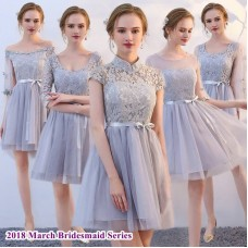 180311 Bridesmaid Dress Dinner Party Budget custom made/ Pink/ Champagne/ Grey