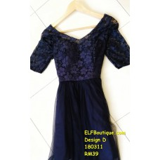 180311 ELF BOUTIQUE READY STOCK Bridesmaid Dress Dinner Party Budget custom made/ Pink/ Champagne/ Grey