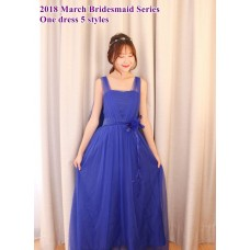 180313 ELF BOUTIQUE 2018 March Bridesmaid Series - 1 dress 5 styles/ Red, Blue, Black, Purple, White
