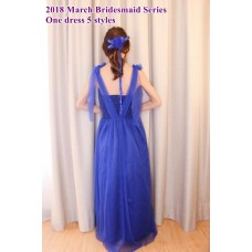 180313 ELF 2018 March Bridesmaid Series - 1 dress 5 styles/ Red, Blue, Black, Purple, White