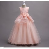 722 elf boutique Flower Girl Dress Gown Kid Performance Party Princess Baby Girl FREE SHIPPING