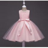 098 ELF BOUTIQUE Flower Girl Dress Gown Kid Performance Party Princess Baby Girl FREE SHIPPING