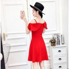 180418 ELF BOUTIQUE Imported Off Shoulder Dinner Dress Party Dress Sleeveless