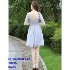 051 ELF Bridesmaid dinner dress evening grown Ready Stock