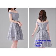 180602 Premium Strap Dinner Gown Short Evening Dress custom made FREE SHIPPING
