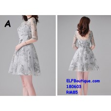 180603 Premium Dinner Gown Short Evening Dress custom made Free Shipping