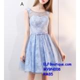 008 Premium Strap Dinner Gown Short Evening Dress custom made Free shipping