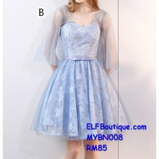008 Premium Strap Dinner Gown Short Evening Dress custom made Free shipping