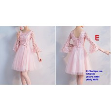 2101 ELFBoutique Premium Strap Dinner Gown Midi Evening Dress custom made Free Shipping