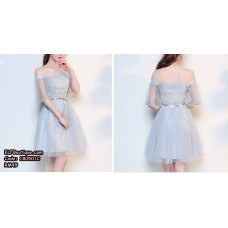 180501 Bridesmaid Wedding Off Shoulder Dinner Gown Dress Cheongsam