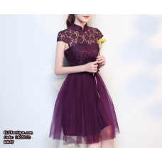 180501 Bridesmaid Wedding Off Shoulder Dinner Gown Dress Cheongsam