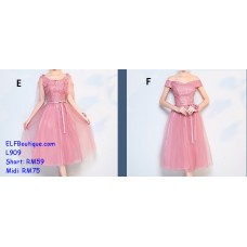 909Midi ELFBoutique Premium Strap Dinner Gown Evening Dress custom made Free Shipping