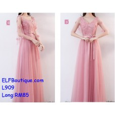 909Long ELFBoutique Premium Strap Dinner Gown Evening Dress custom made Free Shipping