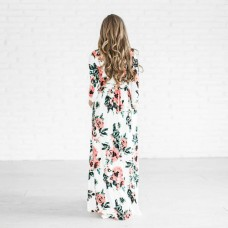 6193 ELFBoutique floral maxi dress Pink/Green/Navy/White .