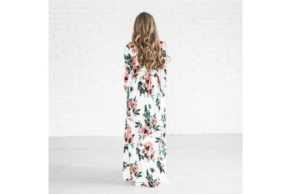 6193 FLORAL MAXI DRESS Pink/Green/Navy/White/Black