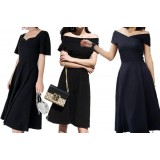 180631 ELFBoutique Premium Elegant Black Dinner Gown FREE SHIPPING