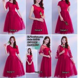 180712 ELF Boutique PREMIUM BRIDESMAID DINNER GOWN/ DRESS/ROSE RED FREE SHIPPING