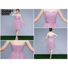 180802 ELF Boutique BRIDESMAID DINNER GOWN/ DRESS/GREY/PURPLE/BEAN custom made
