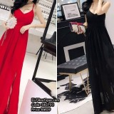 180793 ELFBOUTIQUE Premium Sexy Lacey Dinner Gown Long Dress Evening Gown RED, BLACK FREE SHIPPING