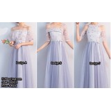180912 ELFBOUTIQUE Embroidery Series Dinner Gown Evening Dress custom made PURPLE GREY free shipping Budget custom made