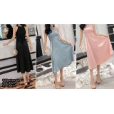 181001 READY STOCK Hanging Neck Dinner Gown Evening Dress Party Dress Blue Black Pink