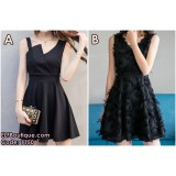 1150 SUMMER KOREAN (BLACK) SHORT DRESS
